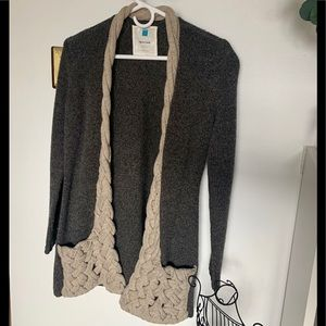 ANTHROPOLOGIE Sparrow Sweater w/ Cableknit Pockets